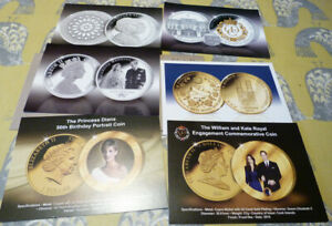 6 PUBLICITY CARDS FOR ROYAL FAMILY COINS & COVERS  20.2.35
