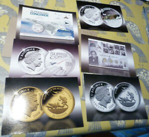 6 PUBLICITY CARDS FOR AIRPLANE COINS & COVERS   VARIOUS DATES  20.2.24