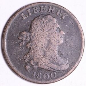 1800 DRAPED BUST HALF CENT  E100 WEE