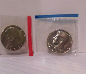C07  1981 P & D JOHN KENNEDY HALF DOLLARS UNCIRCULATED FROM MINT SET 50C COIN