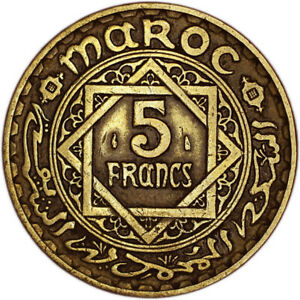 MOROCCO COIN 5 FRANCS 1946 VF