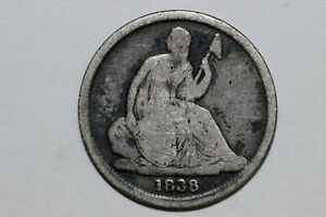 1838 O SEATED LIBERTY SILVER DIME