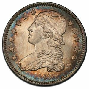 Click now to see the BUY IT NOW Price! 1834 25C QUARTER CAPPED BUST SMALL SIZE PCGS MS66