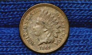 1861 INDIAN HEAD CENT   XF DETAILS    FULL LIBERTY