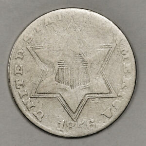 1856 3 CENT SILVER.  CIRCULATED.  152648