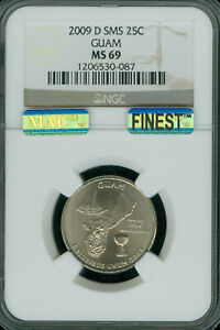Click now to see the BUY IT NOW Price! 2009 D GUAM QUARTER NGC MS69 SMS PQ MAC FINEST REGISTRY MAC SPOTLESS POP 18