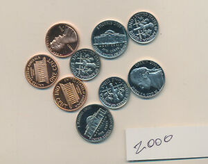 U.S. PROOFS    2000 S LOT OF 9 MIXED