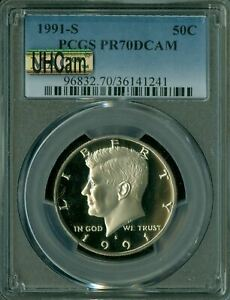 Click now to see the BUY IT NOW Price! 1991 S KENNEDY HALF DOLLAR PCGS PR 70 UHCAM ULTRA HEAVY CAM MAC SPOTLESS
