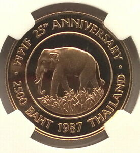 Click now to see the BUY IT NOW Price! THAILAND 1987 ELEPHANT 2500 BAHT NGC PF69 GOLD COIN PROOF