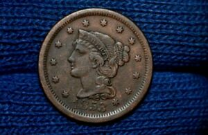 1853 LARGE CENT     XF  DETAILS