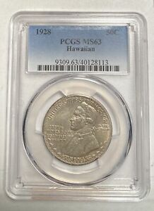 Click now to see the BUY IT NOW Price! CLASSIC COMMEMORATIVE HAWAIIAN SESQUICENTENNIAL 1928 P PCGS MS 63   HAWAIIAN