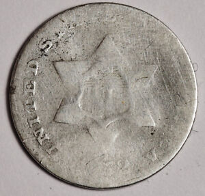 1852 3 CENT SILVER.   155851