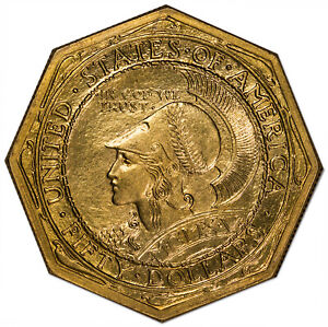 Click now to see the BUY IT NOW Price! 1915 S $50 GOLD COMMEMORATIVE $50 OCTAGONAL NGC MS65   CAC