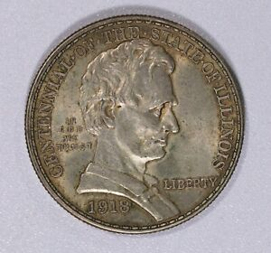 1918 CENTENNIAL OF THE STATE OF ILLINOIS COMMEMORATIVE HALF DOLLAR ITEMJ6714