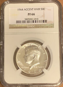 Click now to see the BUY IT NOW Price! 1964 ACCENTED HAIR SILVER KENNEDY HALF DOLLAR  NGC  PF 66