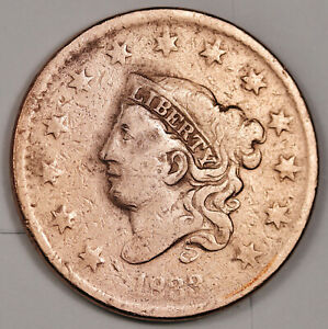 1833 LARGE CENT.  ERROR.  ROTATED REVERSE.  FINE DETAIL.  156412