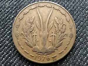 WEST AFRICAN STATES 10 FRANCS CFA COIN 1976
