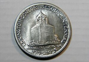 1925 LEXINGTON & CONCORD SILVER COMMEM 50C CHOICE BRILLIANT UNCIRCULATED