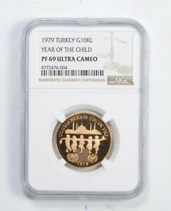 Click now to see the BUY IT NOW Price! PF69 UCAM 1979 TURKEY 10 000 LIRA GOLD COIN YEAR OF THE CHILD   GRADED NGC  9945