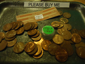 1972 LINCOLN CENT ROLL OF 50 COINS