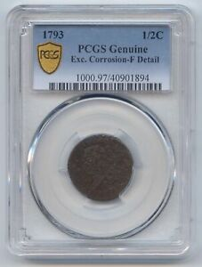 1793 LIBERTY CAP HALF CENT PCGS FINE DETAILS SECURE HOLDER