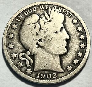 USA   BARBER HALF DOLLAR   1902   GOOD   BELOW WHOLESALE