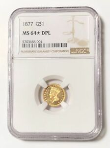 Click now to see the BUY IT NOW Price! GOLD DOLLARS INDIAN PRINCESS HEAD LARGE HEAD 1877 P NGC MS 64  DPL