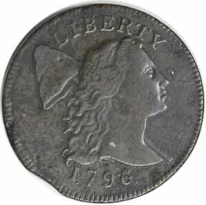 1796 LARGE CENT LIBERTY CAP VF ROUGH UNCERTIFIED