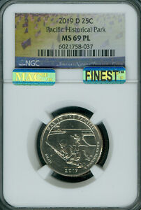 Click now to see the BUY IT NOW Price! 2019 D PARKS QUARTER SET OF 5 NGC 4 MS69 PL   68 PL MAC FINEST GRADED SPOTLESS