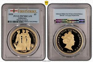 Click now to see the BUY IT NOW Price! 2020 ALDERNEY GOLD PROOF THREE GRACES 5 FIVE POUNDS PCGS PR70 GREAT ENGRAVERS