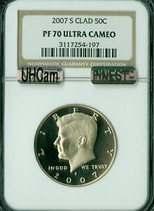 Click now to see the BUY IT NOW Price! 2007 S KENNEDY CLAD HALF DOLLAR NGC PF 70 UHCAM MAC FINEST MAC SPOTLESS