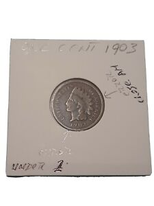 1903 INDIAN HEAD   UNCIRCULATED   ERROR UNDER 1 AND CLOSE AM