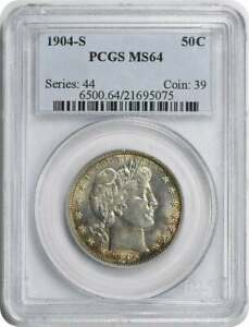 Click now to see the BUY IT NOW Price! 1904 S BARBER SILVER HALF DOLLAR MS64 PCGS
