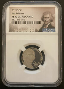 2019 S JEFFERSON NICKEL FIRST RELEASE NGC PF70