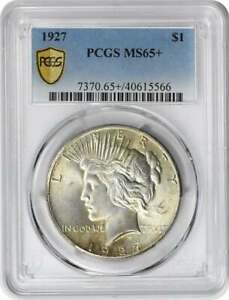 Click now to see the BUY IT NOW Price! 1927 PEACE SILVER DOLLAR MS65  PCGS