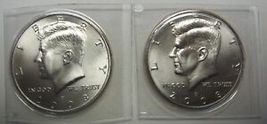 2008 P AND 2008 D UNCIRCULATED KENNEDY HALF DOLLARS ORIGINAL MINT CELLO PACKS