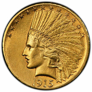 BETTER DATE 1915 S $10.00 GOLD EAGLE PCGS GRADED AU DETAIL/CLEANED  41621075