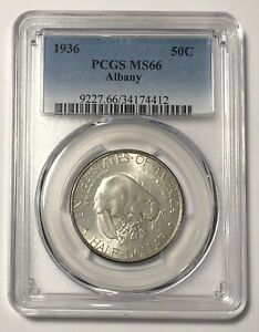 CLASSIC COMMEMORATIVE ALBANY NEW YORK CHARTER 1936 P PCGS MS 66   ALBANY