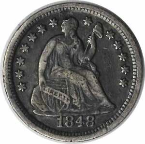 1848 O LIBERTY SEATED SILVER HALF DIME VF UNCERTIFIED