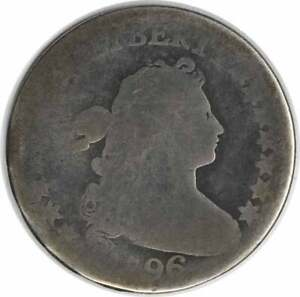 1796 BUST SILVER DIME AG UNCERTIFIED