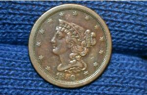 1850 HALF CENT    XF DETAILS    CHOICE BROWN    GET 5  OFF AT CHECKOUT