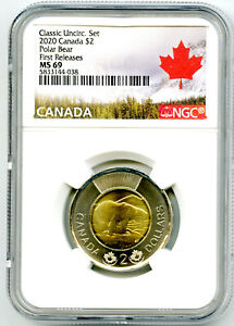 Click now to see the BUY IT NOW Price! 2020 CANADA $2 POLAR BEAR TOONIE NGC MS69 FIRST RELEASES TOP GRADE REGISTRY