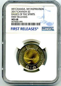 Click now to see the BUY IT NOW Price! 2017 $2 CANADA 150 TOONIE NGC MS68 DANCE OF THE SPIRITS TOP POP2 FIRST RELEASES