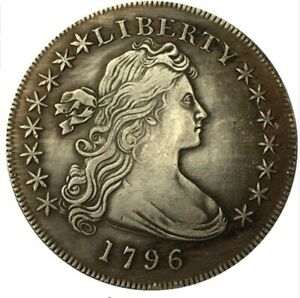 UNITED STATES OF AMERICA COIN 1796 LIBERTY DRAPED BUST ONE DOLLAR COIN