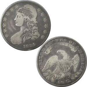 1834 CAPPED BUST HALF DOLLAR VG GOOD 89.24  SILVER 50C US TYPE COIN