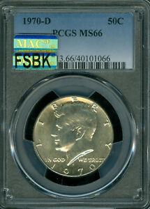 Click now to see the BUY IT NOW Price! 1970 D KENNEDY HALF DOLLAR PCGS MS 66 PQ MAC FSBK MAC SPOTLESS