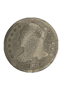 1836 CAPPED BUST EARLY US SILVER DIME 10C