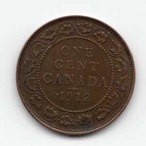 1912 CANADIAN LARGE ONE CENT COIN