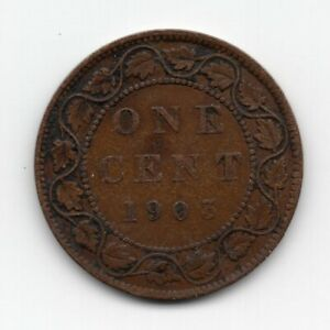 1903 CANADIAN LARGE ONE CENT COIN