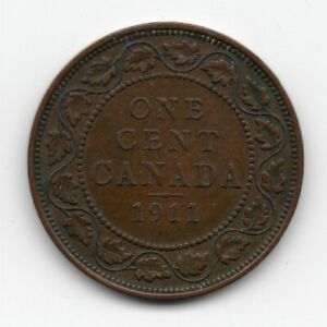 1911 CANADA LARGE ONE CENT COIN